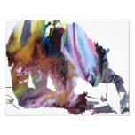 Abstract Grizzly bear silhouette Photo Print
