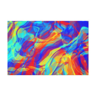 Abstract Groovy Life Canvas Print