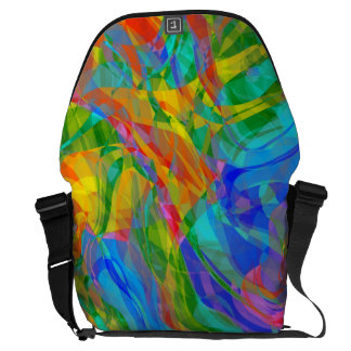 Abstract Groovy Life Courier Bag