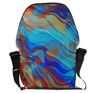 Abstract Groovy Life Messenger Bag