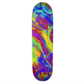 Abstract Groovy Life Skateboard