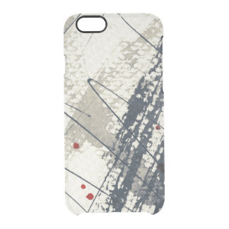 Abstract grunge background, ink texture. 2 clear iPhone 6/6S case