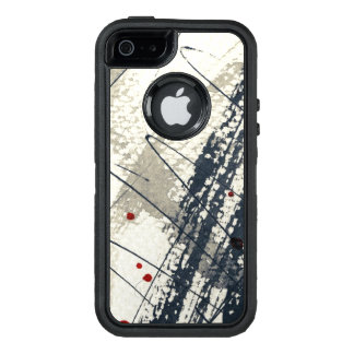 Abstract grunge background, ink texture. 2 OtterBox iPhone 5/5s/SE case