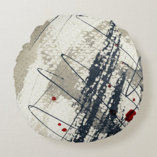Abstract grunge background, ink texture. 2 round pillow