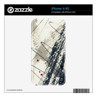 Abstract grunge background, ink texture. 2 skin for iPhone 4S