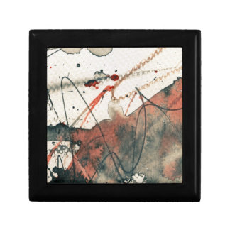 Abstract grunge background, ink texture. 5 gift box