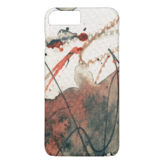 Abstract grunge background, ink texture. 5 iPhone 7 plus case