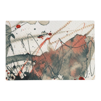 Abstract grunge background, ink texture. 5 placemat