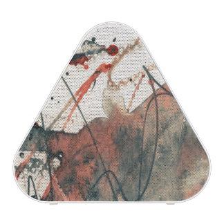 Abstract grunge background, ink texture. 5 speaker
