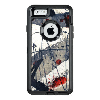 Abstract grunge background, ink texture. OtterBox iPhone 6/6s case