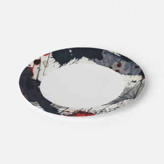 Abstract grunge background, ink texture. paper plate