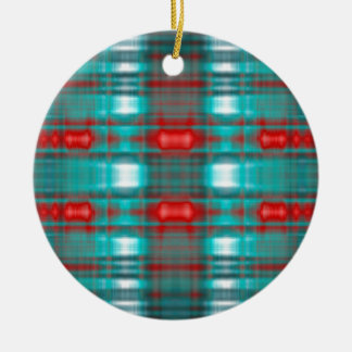 Abstract grunge blur pattern ceramic ornament