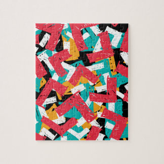 Abstract grunge hipster pattern design jigsaw puzzle