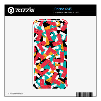 Abstract grunge hipster pattern design skin for the iPhone 4