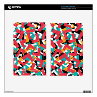 Abstract grunge hipster pattern design skins for kindle fire