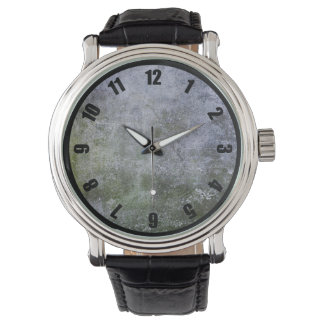 Abstract Grunge Moss Covered Stone Wall Texture Wrist Watch