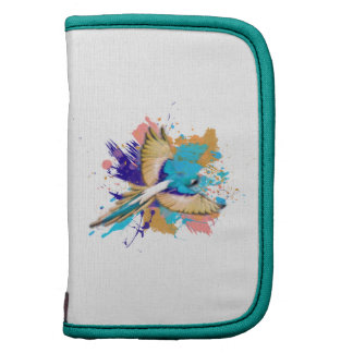 Abstract Grunge Parrot In Cream and Teal Organizer
