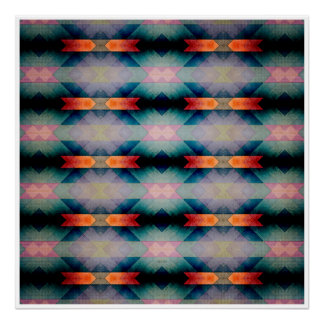 Abstract Grunge Pattern Poster