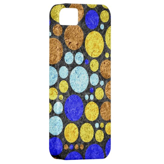 Abstract Grunge Polka Dots   Yellow Blue Aqua iPhone SE/5/5s Case