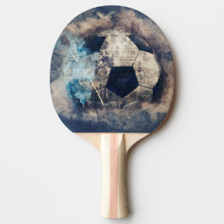 Abstract Grunge Soccer Ping Pong Paddle