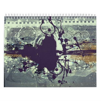 Abstract grunge style design calendar