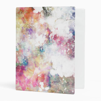 Abstract grunge texture with watercolor paint 2 mini binder