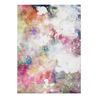 Abstract grunge texture with watercolor paint 2 poster