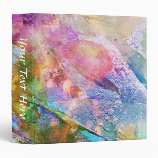 Abstract grunge texture with watercolor paint 3 3 ring binder