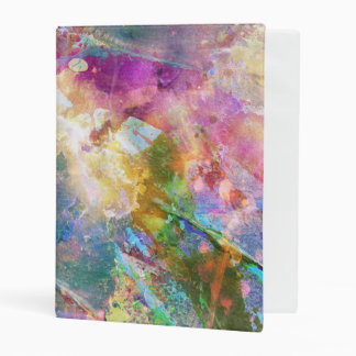 Abstract grunge texture with watercolor paint 3 mini binder