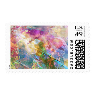 Abstract grunge texture with watercolor paint 3 postage