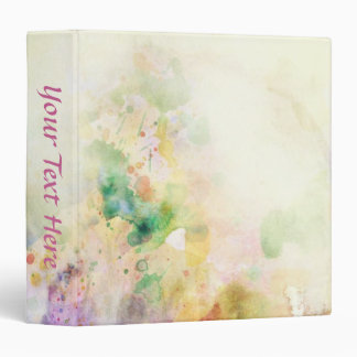 Abstract grunge texture with watercolor paint 3 ring binder