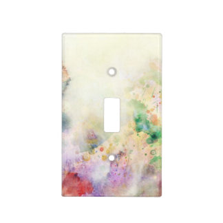 Abstract grunge texture with watercolor paint light switch cover
