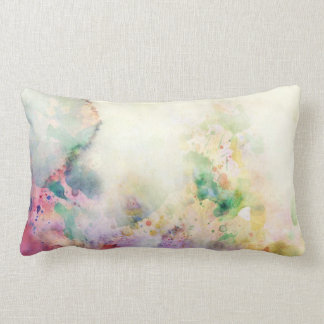 Abstract grunge texture with watercolor paint lumbar pillow
