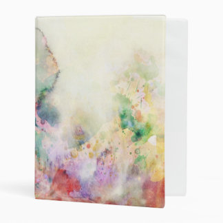 Abstract grunge texture with watercolor paint mini binder