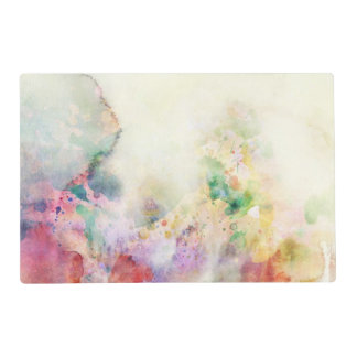 Abstract grunge texture with watercolor paint placemat