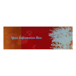 Abstract Grunge Tree Bookmark Business Cards