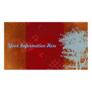 Abstract Grunge Tree Business Cards