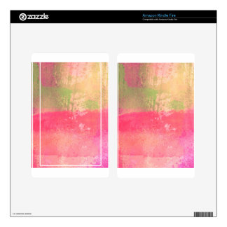 Abstract Grunge Watercolor Print Decals For Kindle Fire