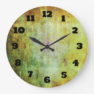 Abstract Grunge with a Rough Scratched Texture Large Clock