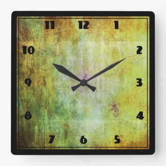 Abstract Grunge with a Rough Scratched Texture Square Wall Clock