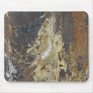 Abstract Grunge Yellow and Brown Rust Mouse Pad