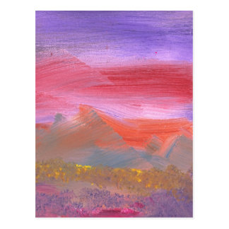 Abstract - Guash - Lovely meadows 1 of 2 Postcard