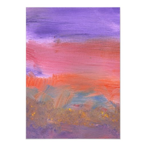 Abstract - Guash - Lovely meadows 2 of 2 5x7 Paper Invitation Card
