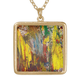 Abstract - Guash - Morning Joy Gold Plated Necklace