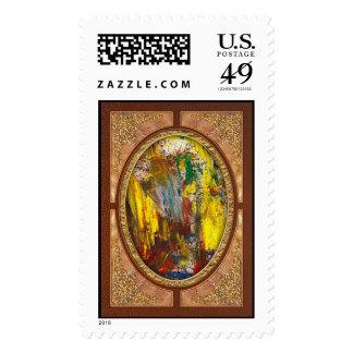 Abstract - Guash - Morning Joy Stamp