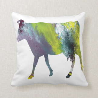 Abstract Guernsey cow silhouette Throw Pillow