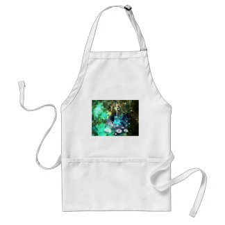 Abstract Guitar Art Adult Apron