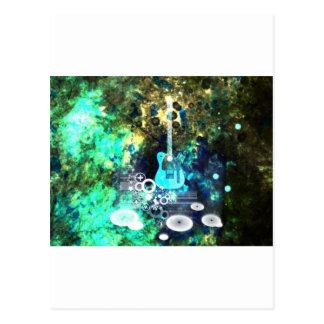 Abstract Guitar Art Postcard