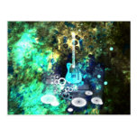 Abstract Guitar Art Postcards