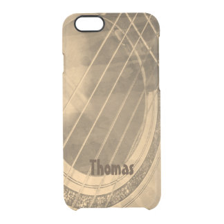 Abstract Guitar Clear iPhone 6/6S Case